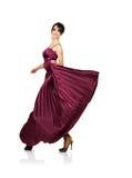 Mulher 'sexy' com o vestido elegante do vôo imagens de stock royalty free