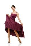 Mulher 'sexy' com o vestido elegante do vôo foto de stock royalty free