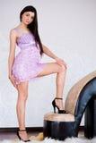 Mulher 'sexy' com saltos elevados fotos de stock