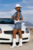Mulher 'sexy' do americano africano. Imagens de Stock