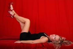 Mulher 'sexy' do blong. Imagem de Stock