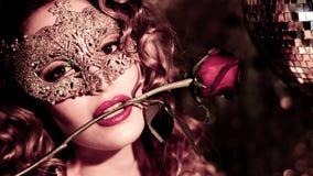 Mulher 'sexy' do dançarino do disco video estoque