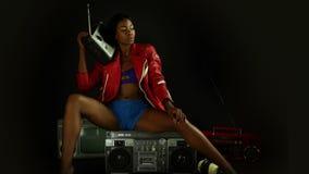 Mulher 'sexy' do disco video estoque