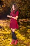 Mulher 'sexy' do outono Fotografia de Stock