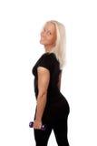 Mulher 'sexy' durante o treinamento foto de stock royalty free