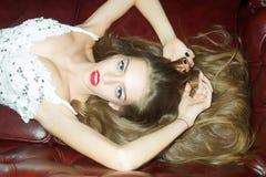 Mulher 'sexy' elegante Foto de Stock Royalty Free