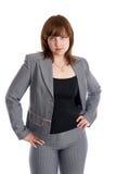 Mulher 'sexy' em um terno de negócio Fotos de Stock Royalty Free