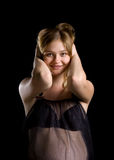 Mulher 'sexy' grávida fotos de stock