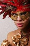 Mulher 'sexy' na máscara fotografia de stock royalty free