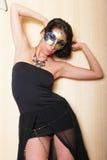 Mulher 'sexy' na máscara foto de stock royalty free