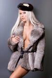 Mulher 'sexy' na pele fotografia de stock