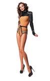 Mulher 'sexy' no corpo com cristais de rocha Imagens de Stock Royalty Free