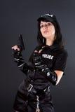 Mulher 'sexy' no uniforme da polícia Fotos de Stock Royalty Free