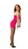 Mulher 'sexy' no vermelho Imagens de Stock