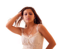 Mulher 'sexy' nova isolada Fotografia de Stock
