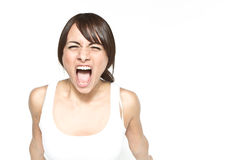 Mulher Shouting Imagens de Stock