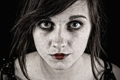 Mulher sinistra assustador Imagem de Stock Royalty Free