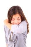 Mulher Sneezing imagem de stock