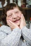 Mulher sênior agradável feliz Imagens de Stock Royalty Free