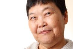 Mulher sênior de sorriso Fotos de Stock Royalty Free
