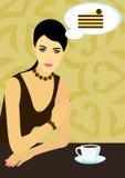 A mulher sonha a galdéria Fotografia de Stock Royalty Free