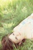 Mulher sonhadora Imagens de Stock Royalty Free