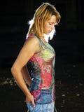Mulher sozinha Imagem de Stock