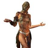 Mulher suja com máscara Foto de Stock Royalty Free