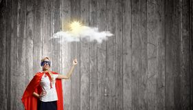 Mulher super Fotografia de Stock Royalty Free