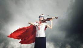 Mulher super Imagens de Stock Royalty Free