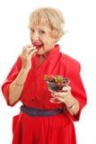 Mulher superior - bagas deliciosas Imagens de Stock Royalty Free