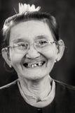 Mulher superior burmese Imagem de Stock