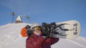 Mulher superior do Snowboarder filme