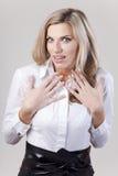 Mulher surpreendida Imagens de Stock