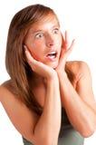 Mulher surpreendida Fotos de Stock Royalty Free