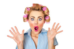 Mulher surpreendida Imagens de Stock Royalty Free