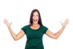 Mulher surpreendida Imagem de Stock Royalty Free
