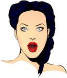 Mulher surpreendida fictício sem fundo Foto de Stock Royalty Free