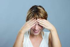 Mulher tímida Imagem de Stock