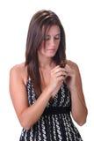 Mulher tímida Fotos de Stock