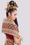 Mulher tailandesa bonita no vestido tradicional Imagens de Stock Royalty Free