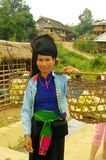 Mulher tailandesa com seu stockade Imagens de Stock Royalty Free