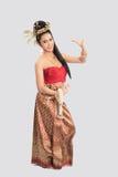 Mulher tailandesa no traje tradicional de Tailândia Fotografia de Stock