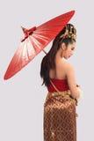 Mulher tailandesa no traje tradicional de Tailândia Imagem de Stock
