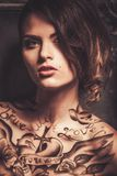 Mulher Tattooed Fotografia de Stock