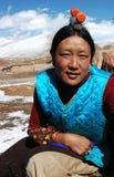 Mulher tibetana fotografia de stock