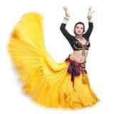 Mulher tribal do dançarino da barriga exótica bonita Imagens de Stock Royalty Free