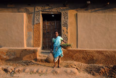 Mulher tribal em India Fotos de Stock