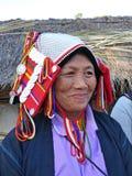 Mulher tribal no norte de Tailândia imagens de stock