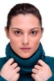 Mulher triguenha bonita fotografia de stock royalty free